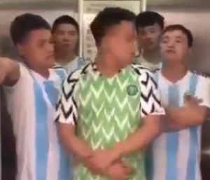 Chinese Men Seen Mocking Super Eagles After Their Defeat By Argentina Team (Hilarious Video)
